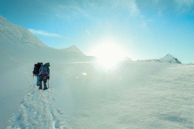 尼泊爾,登山,雪盲