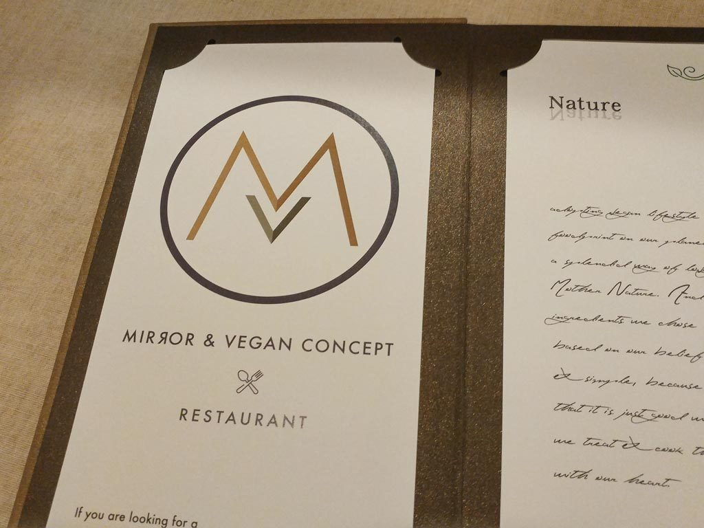 中環意大利菜素食店 vegan & mirror 餐單