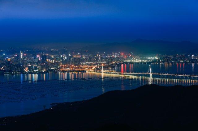 屯門青山,夜景