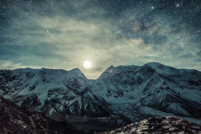 尼泊爾,登山,日出