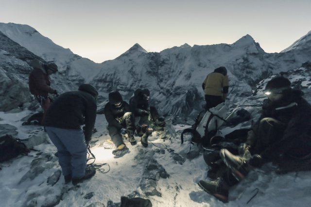 尼泊爾,登山日出