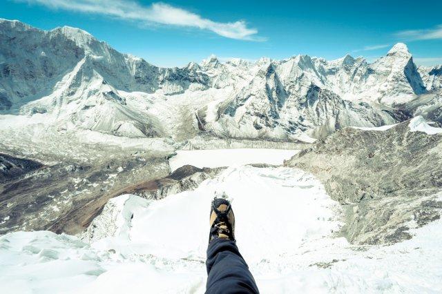 用盡力最後登頂了。