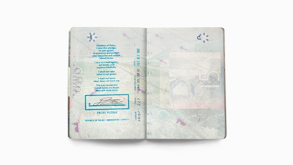 帛琉創立全球首個護照上的保育誓詞