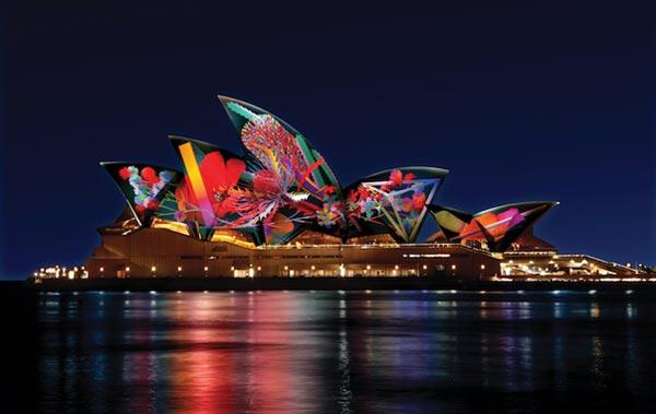 在音樂節期間,悉尼很多具標誌性的建築將再次披上新裝