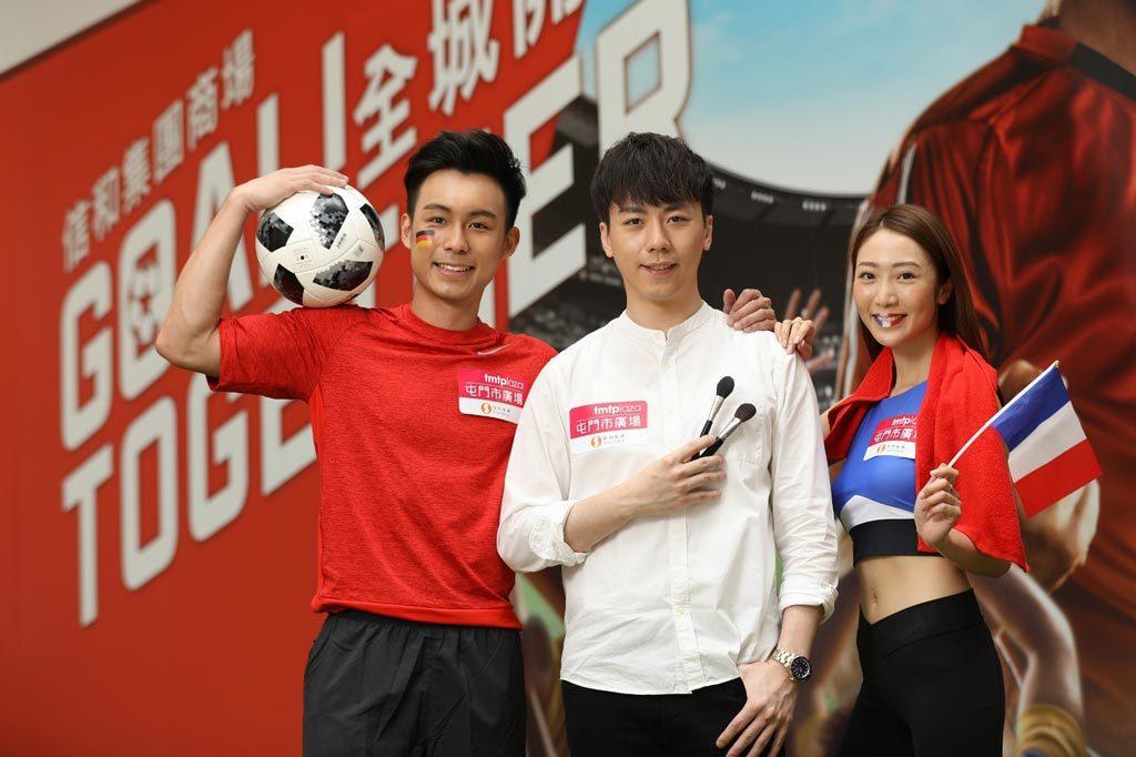 星級化粧師Allen-Lee為球迷換上愛隊粧容,-及韓國健身教練帶領球迷跳健身操