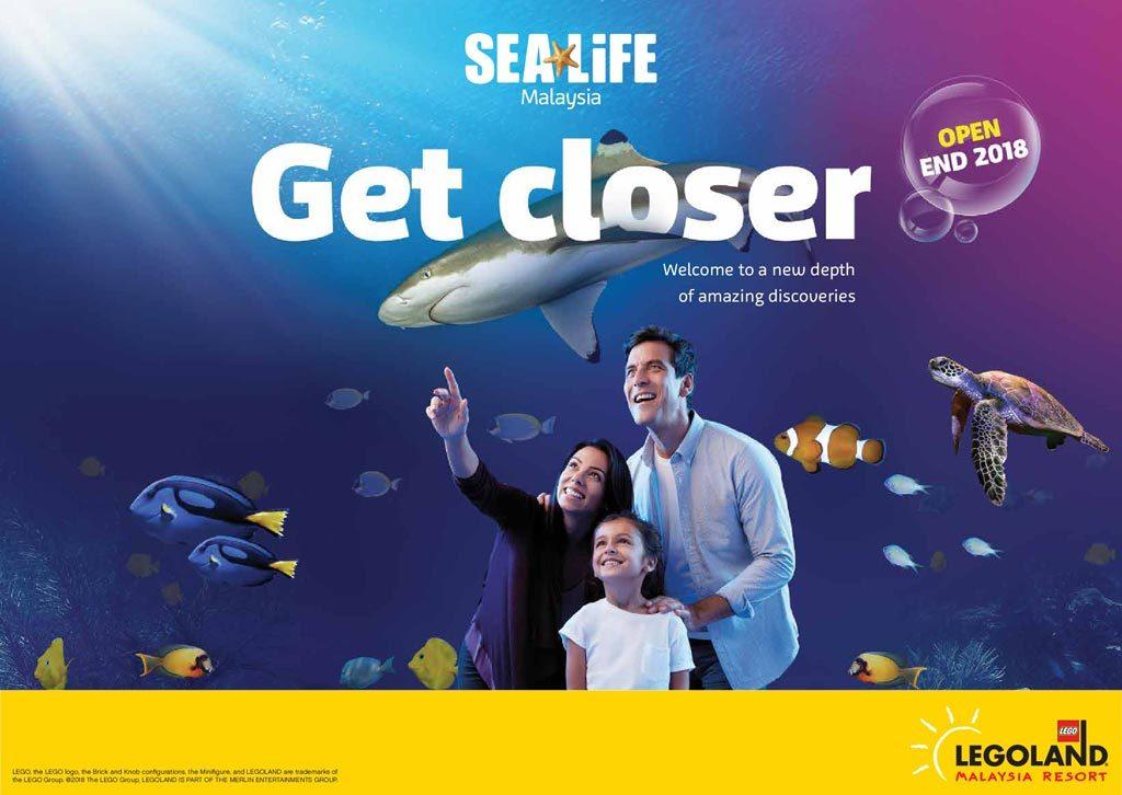 世界最大的水族館品牌於馬來西亞樂高樂園設立SEA LIFE 海洋探索中心