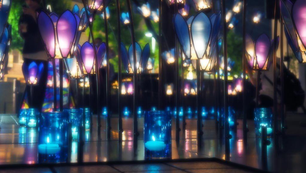 大阪Candle Night今年的主題為「SLOW DAY」,希望平時在繁囂生活的都市人,在當晚都能放下急促的步伐,從蠟燭的柔和火光中獲得心靈上的治癒。