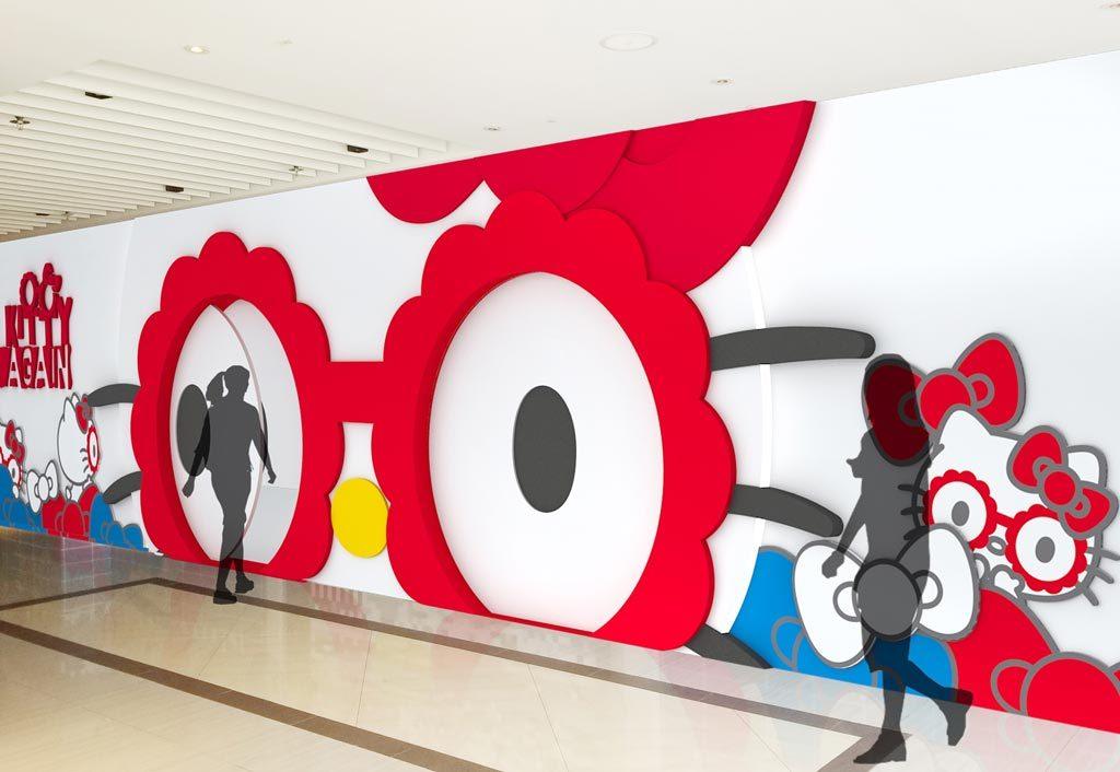 澳門HelloKitty_展覽入場位置將有超巨型Hello-Kitty花花眼鏡佈景裝置,入場時更會徐徐打開,讓各位正式「走進」Kawaii世界
